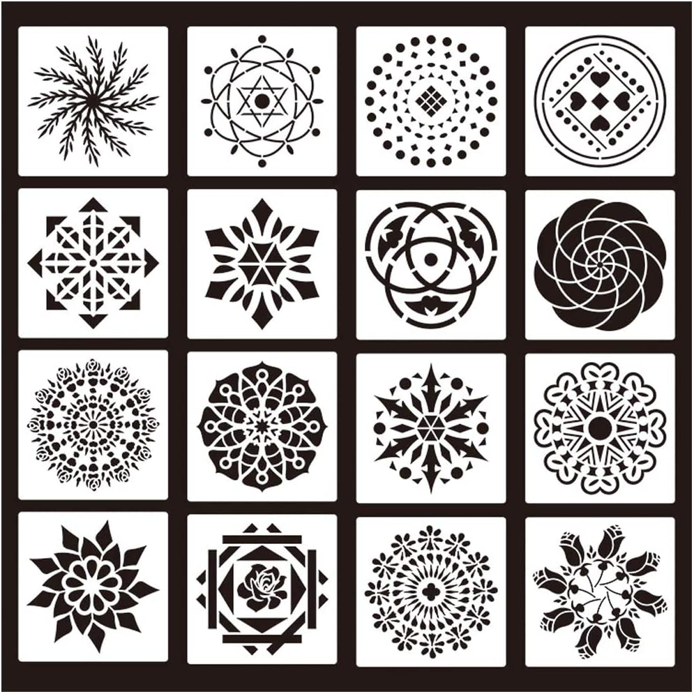 Mandala Dotting Stencils dabuliu Mandala Painting Stencils for DIY Rocks Stone Airbrush Wall Art Canvas Wood Furniture Cards Painting Art Projects