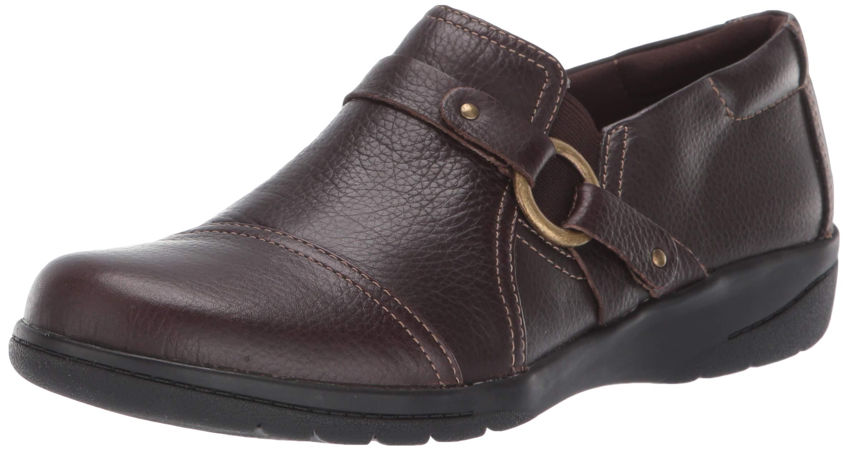 CLARKS Women's Cheyn Fame Pump, Dark Brown Leather, 110 W US by CLARKS