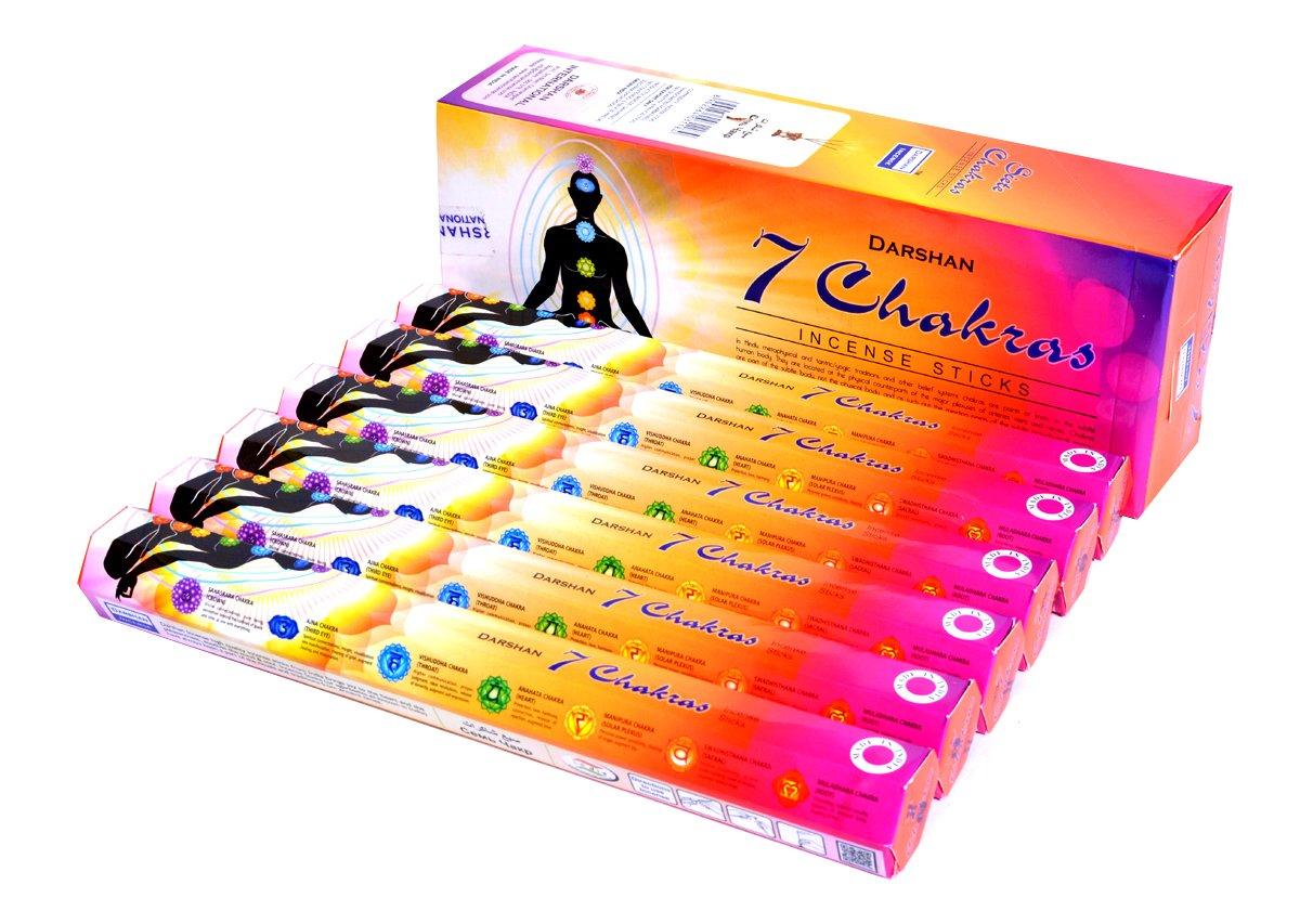 7チャクラ – Incense Stickボックス120 Sticks – Darshan Incense B079KR631N