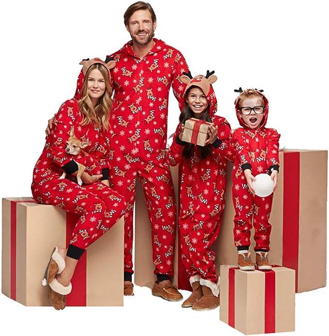 Memoryee Pijamas Unisex Familia Onesies con Capucha -Disfraz de ...