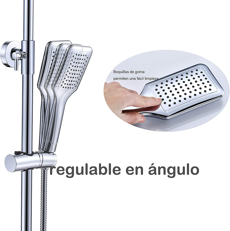 "Columna de Ducha,Set de Ducha Termostatica Ducha Lluvia 10"",ducha columna: Amazon.es: Bricolaje y herramientas"