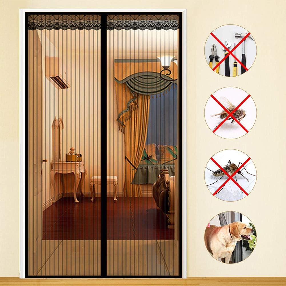 Mosquitera magnética para puerta, Magic Mesh, mosquitera, cierre ...