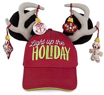 9089bbd80abb0 Image Unavailable. Image not available for. Color  Disney Parks Mickey  Mouse Holiday Christmas Light Up Baseball Hat Cap