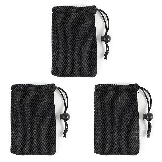 Amazon.com: Negro Teléfono Celular Bolsa de malla para ...