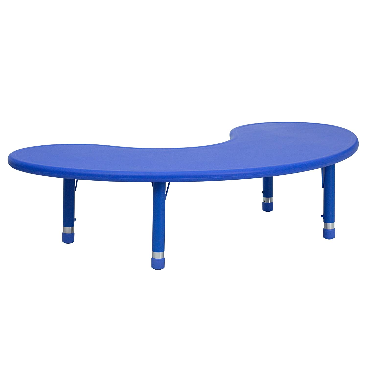 Amazon Flash Furniture Height Adjustable Half Moon Blue