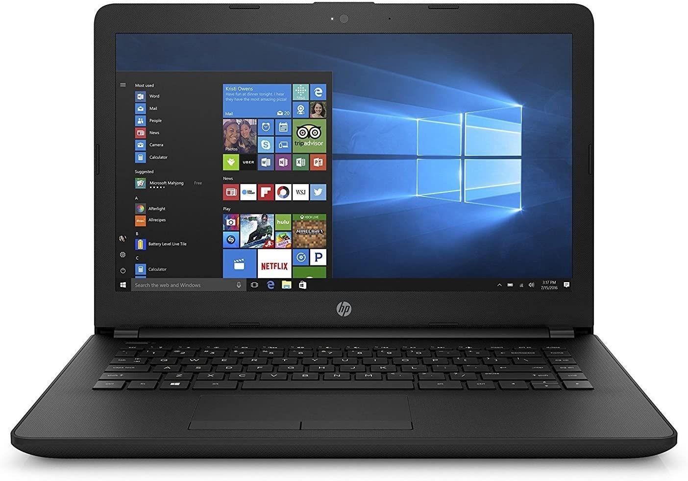 2018 HP Premium Flagship Laptop | 14' diagonal HD SVA BrightView (1366 x 768) | AMD E2-9000E 1.5GHz | 4GB RAM | 32GB SSD | AMD Radeon R2 | Camera | No Optical | Windows 10 (Renewed)