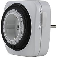 UNITEC 44023 mechanische dag-timer, voor gebruik binnenshuis, aantrekkelijke vierkante vorm, analoog, wit, 15 minuten…