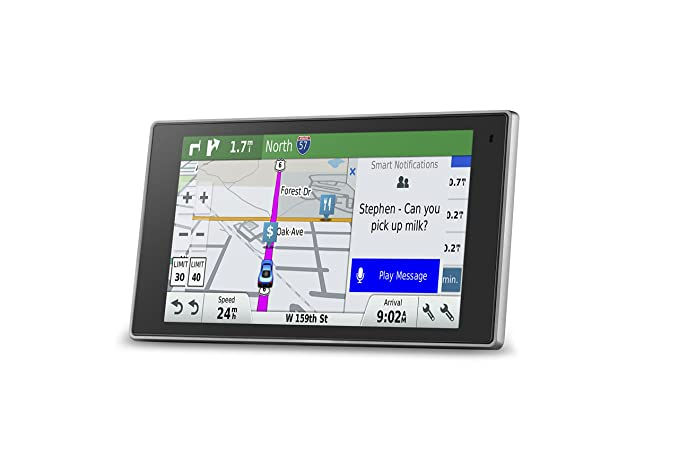 Garmin DriveLuxe 50 NA LMTHD GPS Navigator System with Lifetime Maps and  Traffic, Smart Notifications, Voice Activation, Driver Alerts, and a Sleek