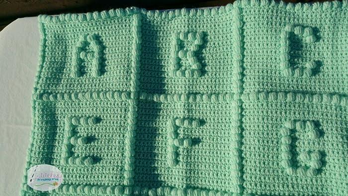 Amazon Hand Crafted Crochet Abc Blanket Full Alphabet Handmade