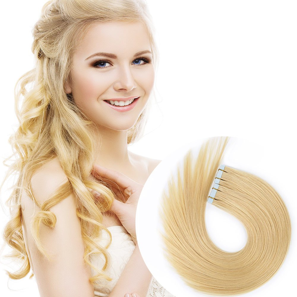 Amazon Tape In Human Hair Extensions 16 Inch 20pcs 40gpack