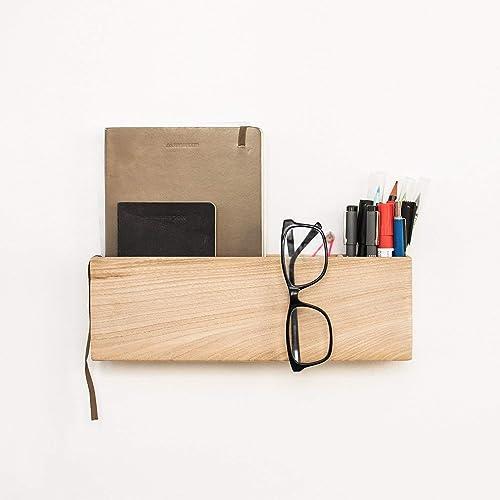 Caja de madera organizador de correo de pared. Estante de pared colgante. Organizador para el recibidor o la oficina: Amazon.es: Handmade