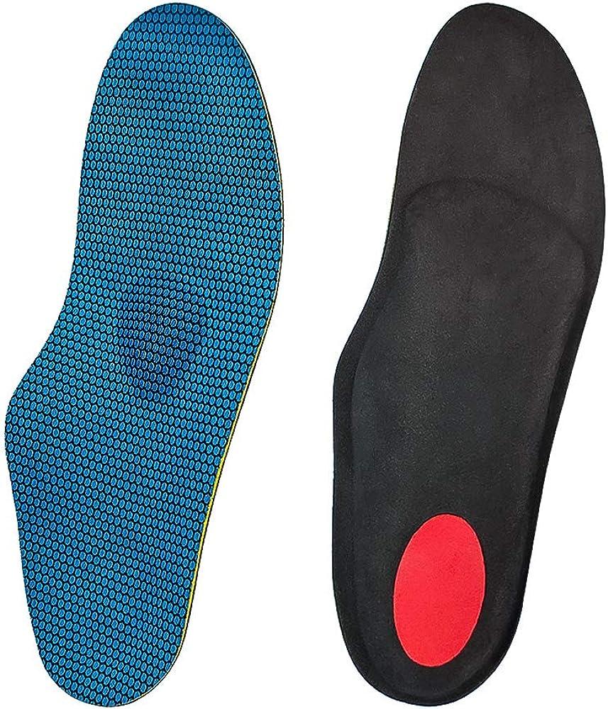 Naffic Plantilla ortopédica Soporte de arco alto, plantillas funcionales suaves, inserto de zapatos de longitud completa para pies planos severos, fascitis plantar, dolor en los pies, pronación…