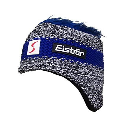 6217f0bc998 Eisbär Contrast Stripe Cocker Ski Hat Knit Beanie Women´s (One Size - Blue
