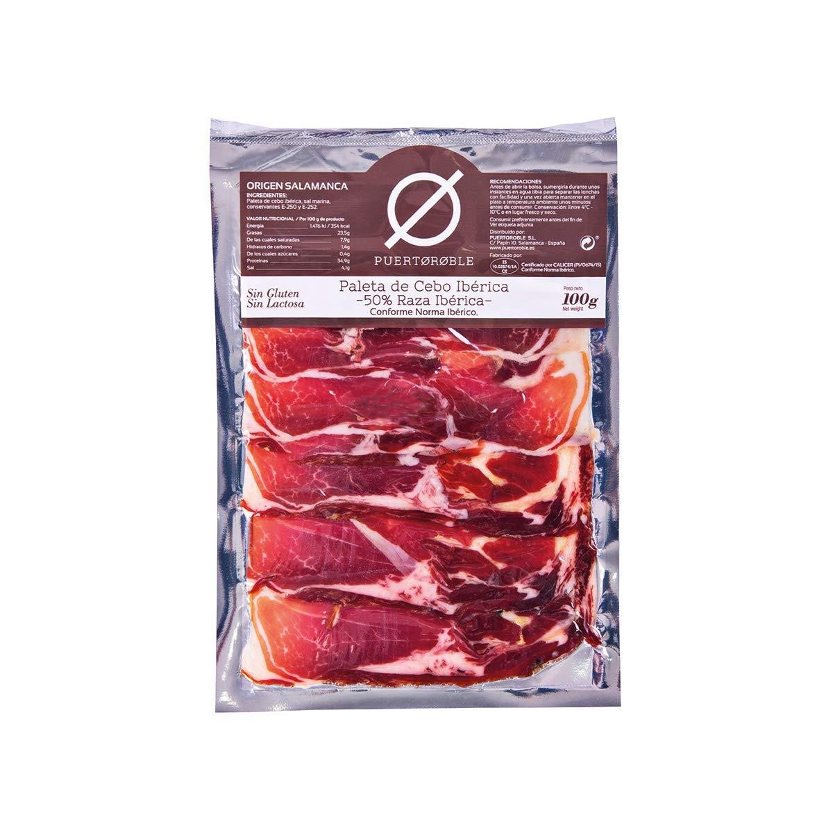 Paleta de cebo ibérica: 50% raza ibérica. Paletilla deshuesada 5 packs de 100 gr: Amazon.es: Alimentación y bebidas