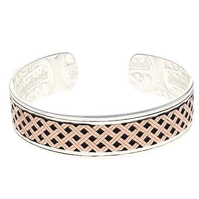 Montana Silversmiths Classic Legacy Weave Crossing Paths Cuff Bracelet: Jewelry