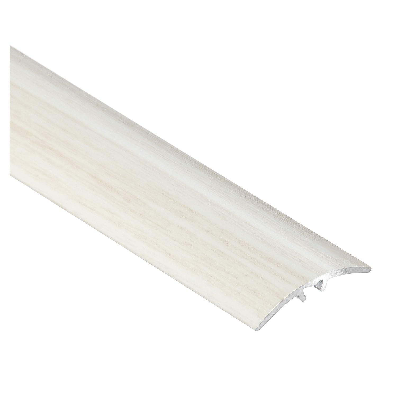C01 /Übergangsprofil Anpassungsprofil Ausgleichsprofil 40mm Holzdekor Eiche wei/ß