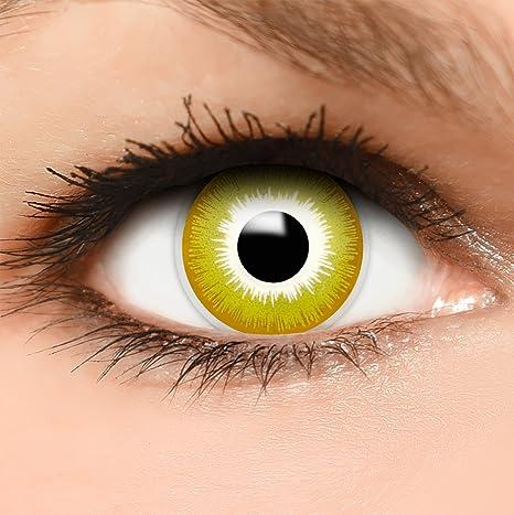 8800c7e7b5 FUNZERA® Lentillas de Colores Avatar + recipiente para lentes de contacto,  sin dioptrías pack