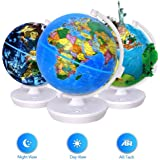 oregon scientific smart globe starry sg101r 2 in 1 day and night globe with 3d