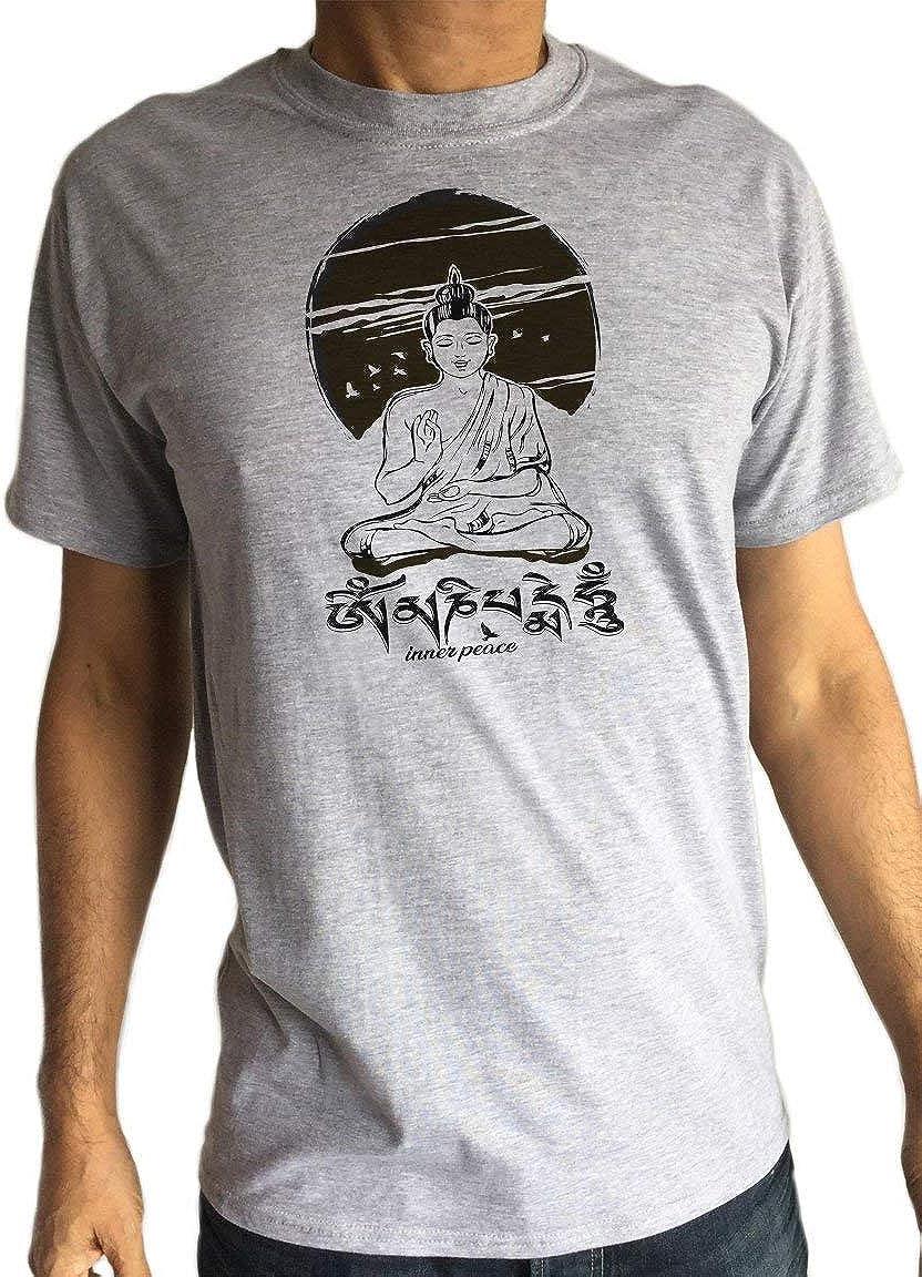 Camiseta para Hombre Yoga psicodélico Buda Chakra ...