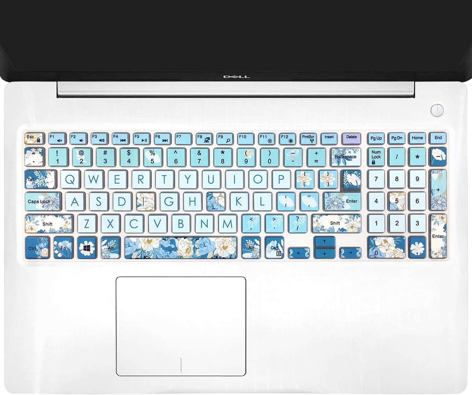Keyboard Cover for Old Dell Inspiron 15 3000 5000 15.6'' Series, Dell G3 15 17 Series, Dell G5 15 Series, Dell G7 15 17 Series, Insprion 17 5000 Series, Peony