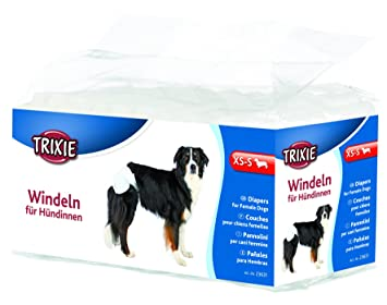 Trixie 12 Pañales Perros ultra absorbentes, XS-S