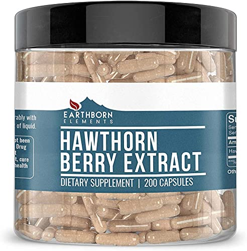 Hawthorn Berry Extract, 200 Caps, 1275 mg Serving, Fast Dissolving, Potency Purity, Non-GMO, No Stearate or Rice Filler, Made in USA, Gluten-Free, Lab-Tested, Satisfaction Guaranteed*