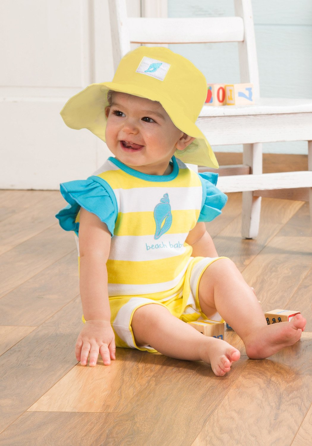 12-24 Months Yellow Beach Baby Girl Hat Pavilion
