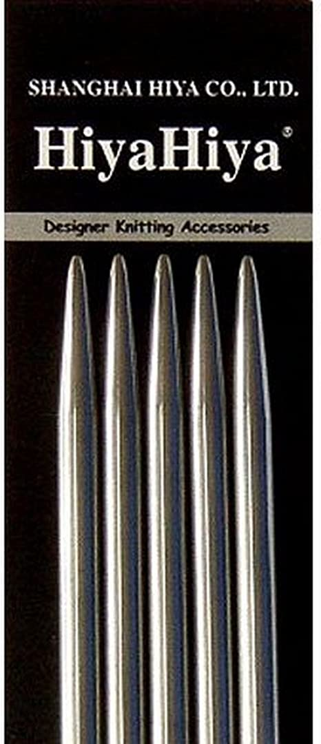 """ChiaoGoo Double Point Stainless Steel 6/"""" Knitting Needles Set"""
