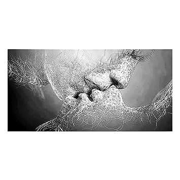 pu ran leinwand modern love kiss abstrakte kunst art wand bild home decor siehe abbildung 10060cm amazonde kche haushalt
