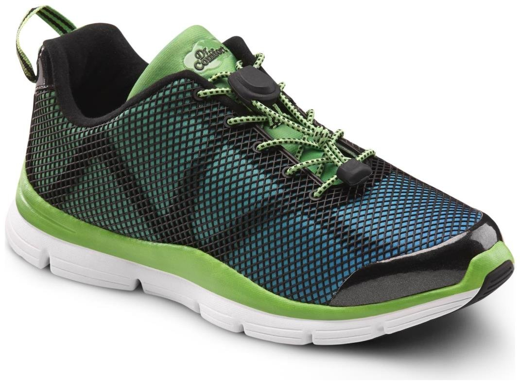 Dr. Comfort Katy Women's Therapeutic Extra Depth Athletic Shoe: Green/Turquoise 7 Wide (C-D) Lace by Dr. Comfort