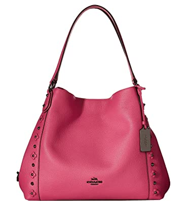 d90445ff3f COACH Womens Floral Rivets Detail Edie 31 Shoulder DK Dahlia Shoulder Bag   Handbags  Amazon.com