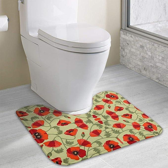 Admirable Amazon Com Non Slip Contour Bath Mat For Toilet Poppies Machost Co Dining Chair Design Ideas Machostcouk