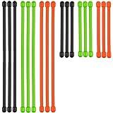 Acxeon 18Pcs Gummi Magic Kabelbinder, der wiederverwendbare Draht Gear Krawatte, Twist Krawatten Kabel organizer Gummi Torsionriegel für den universellen Einsatz, (9x 3 Zoll und 9x 6 Zoll)