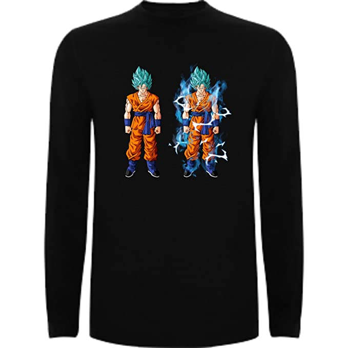 Camiseta Manga Larga de Hombre Dragon Ball Son Goku Anime Vegeta Piccolo Akira Toriyama: Amazon.es: Ropa y accesorios