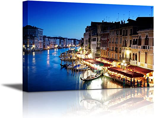VENICE QUALITY ABSTRACT CANVAS PRINT PICTURE MODERN READY TO HANG
