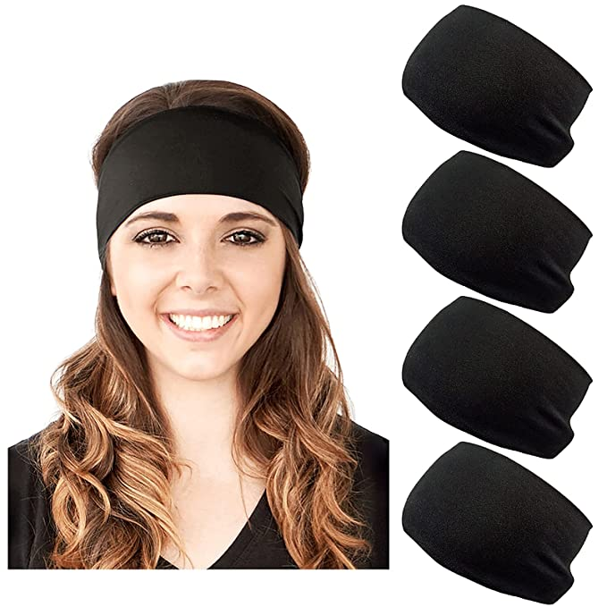 Details about  /Women//Men Elastic Sweat Sweatband Headband Yoga Gym Stretch Head Band For Sports