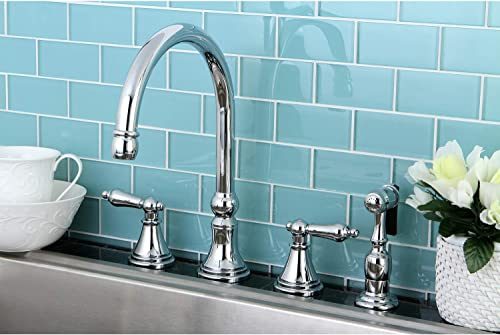 Elements of Design ES2791ALBS Governor 8 to 16 Widespread Kitchen Faucet with Brass Sprayer, 8- 1 4 , Polished Chrome