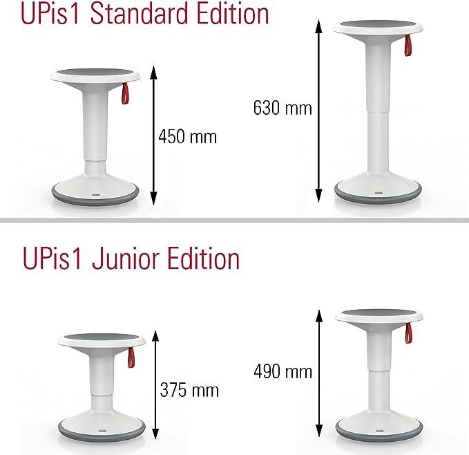 Premium Sgabello Regolabile in Altezza e Girevole Intersgabello ergonomico Ideale per sedersi Comodamente sulla Schiena.