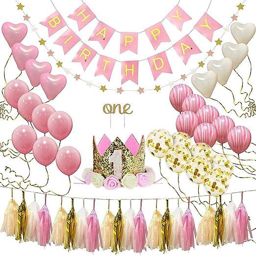 AOLVO - Decoración para Primer cumpleaños de niña, diseño de ...