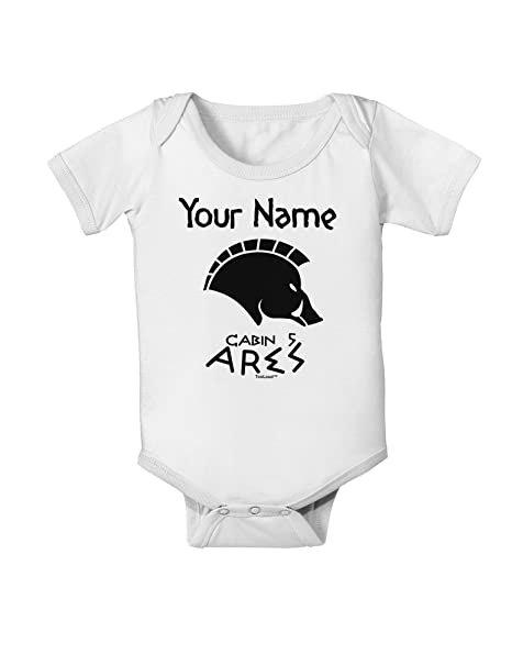 06c2db70f8f Amazon.com  TooLoud Personalized Cabin 5 Ares Baby Romper Bodysuit - White  - 18 Months  Clothing