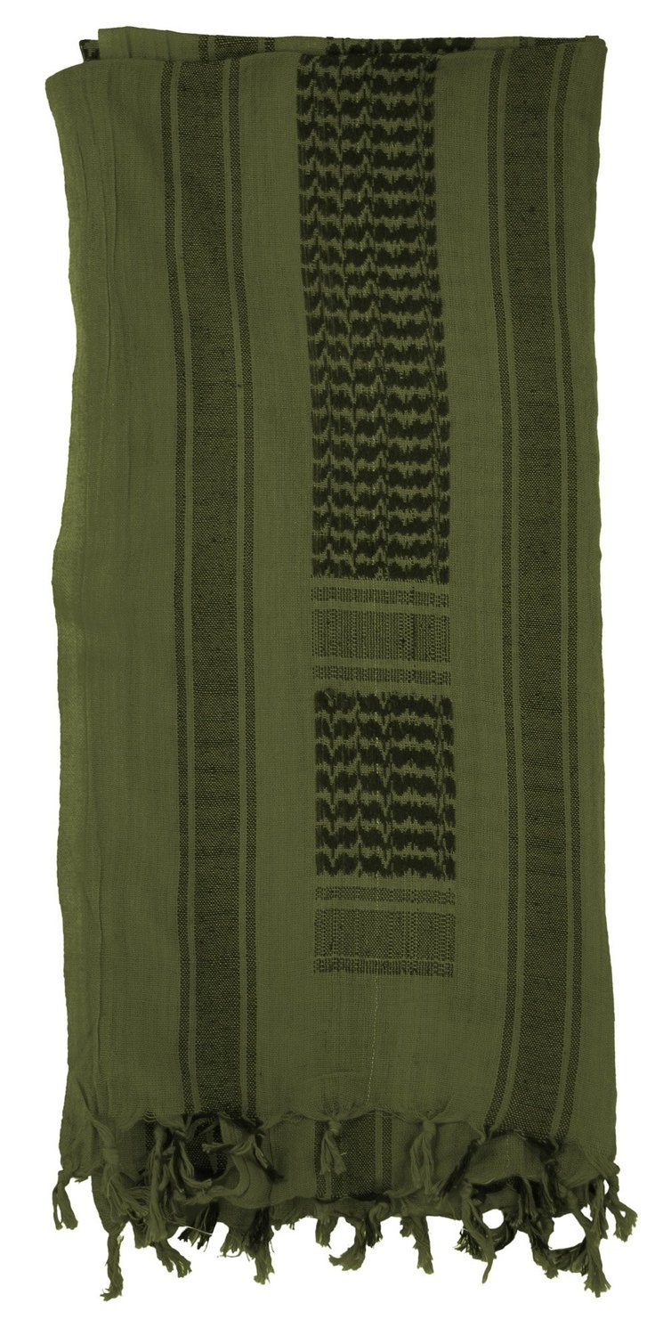 Mato & Hash Military Jumbo Shemagh Tactical Desert 100% Cotton Keffiyeh Scarf Wrap- Olive Drab
