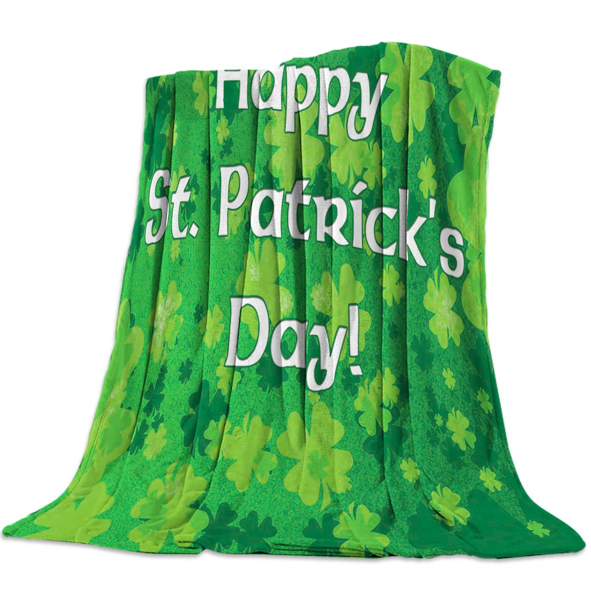 St. Patrick's Day5yag6444 49x79inch=125x200cm YEHO Art Gallery 49x59 Inch Flannel Fleece Bed Blanket Soft ThrowBlankets for Girls Boys,The UK Flag Pattern,Cozy Lightweight Blankets for Bedroom Living Room Sofa Couch