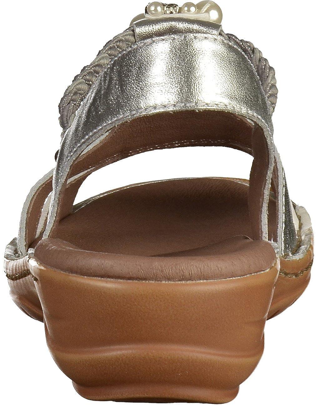 ARA Damen Hawaii T-Spangen 1227203 T-Spangen Hawaii Sandalen Grau (Silber, Weiss 06) b03865