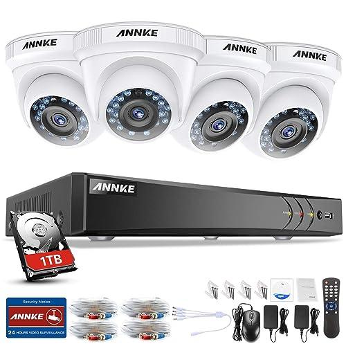 ANNKE Sistema de Seguridad 8+2 Canal 3MP H.264 DVR con CCTV (
