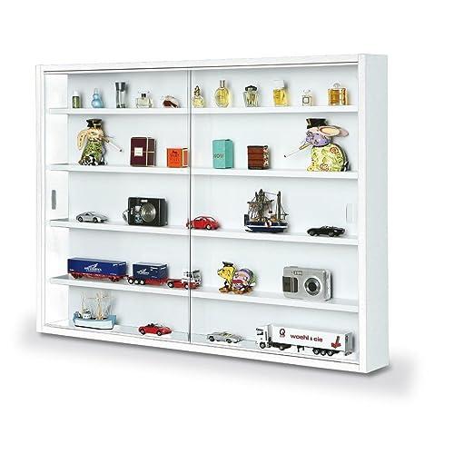 Inter Link Vitrine murale pour objets de collection & miniatures Panneaux de particules blanc