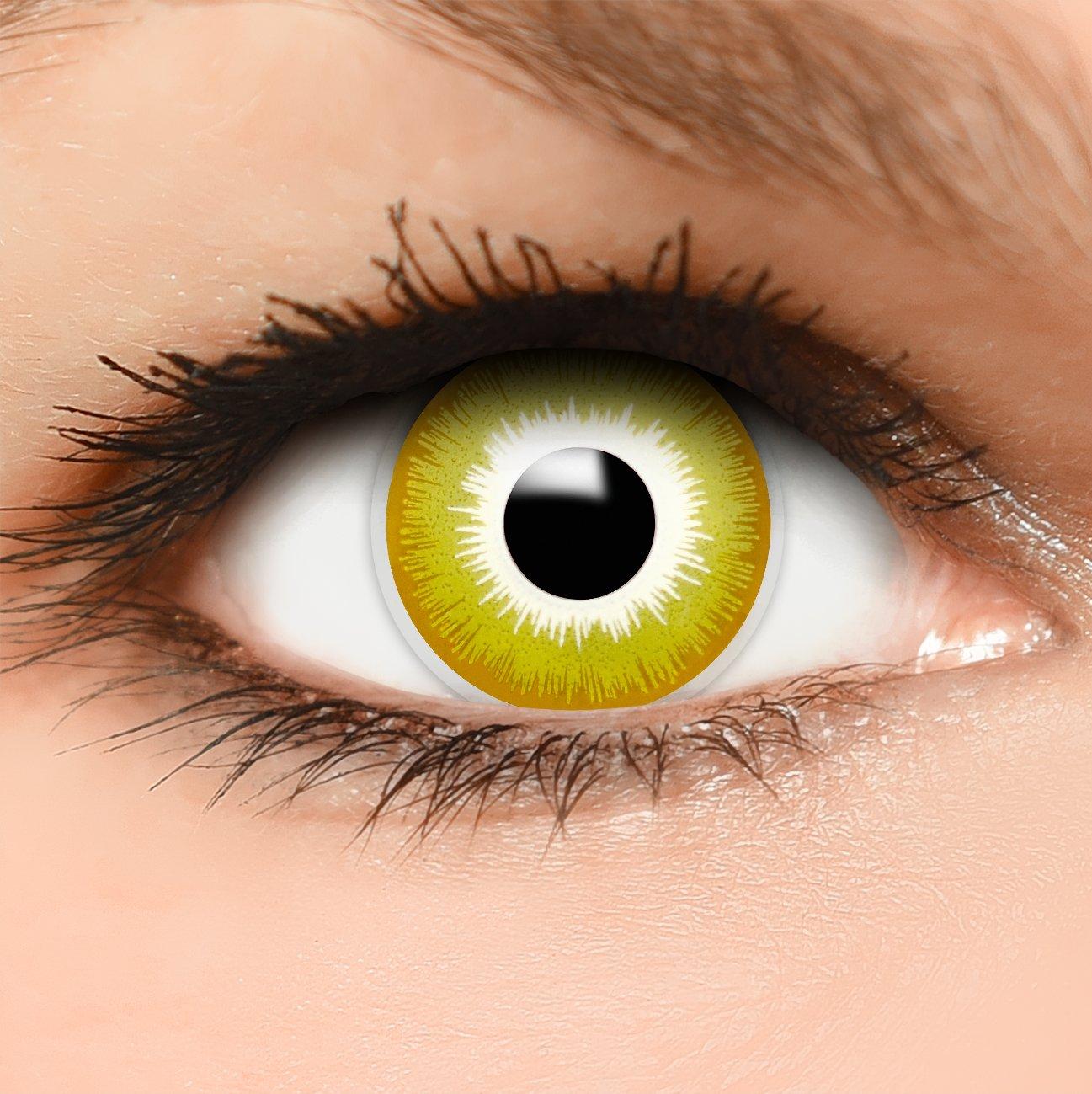 7d48565e39528 FUNZERA® Lentillas de Colores Avatar + recipiente para lentes de contacto