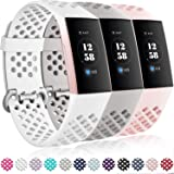 Getino Sport Bands Compatible for Fitbit Charge 4 and Fitbit Charge 3, Soft, Waterproof and Durable TPU Breathable Wristbands