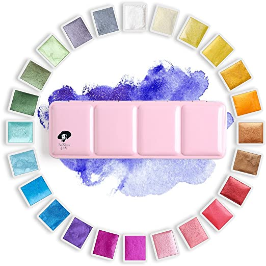 Paul Rubens K Nstler Aquarell Farben Glitter Solide Farben Rosa