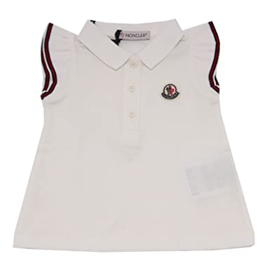 MONCLER 9287T Polo Bimba Maglia Bianco White t-Shirt Polo Girl Kid ...