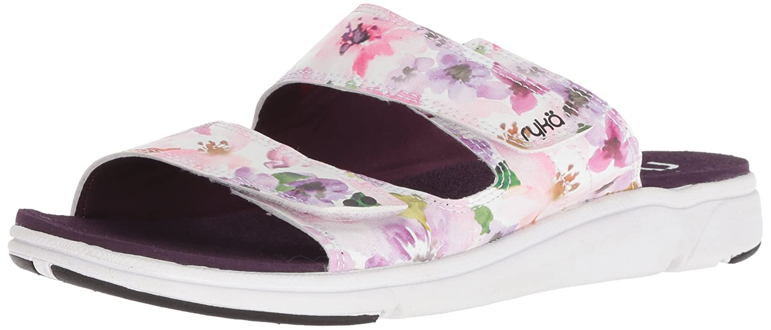 Ryka Women's Marilyn Slide Sandal B077YQMNHD 7.5 B(M) US|Plum/White